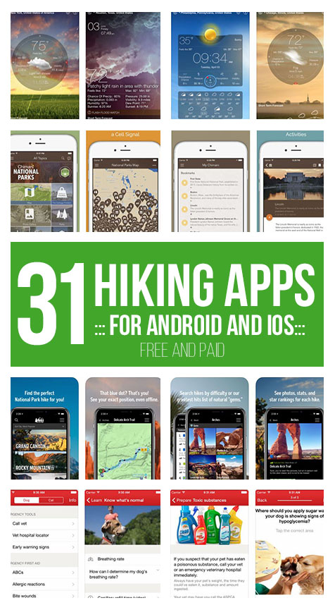 31 Best Hiking Apps for Android and iOS (FREE and PAID)