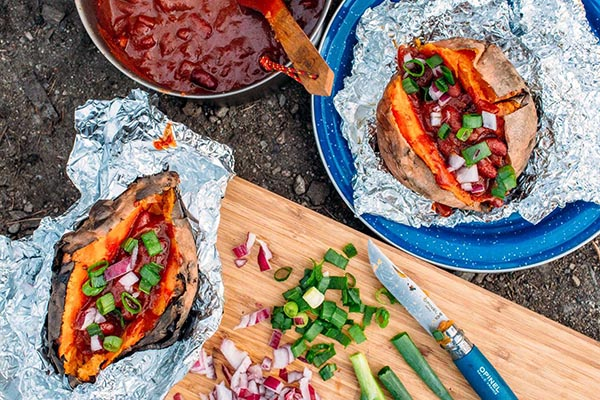16. Foil Wrapped Chilli with Sweet Potatoes