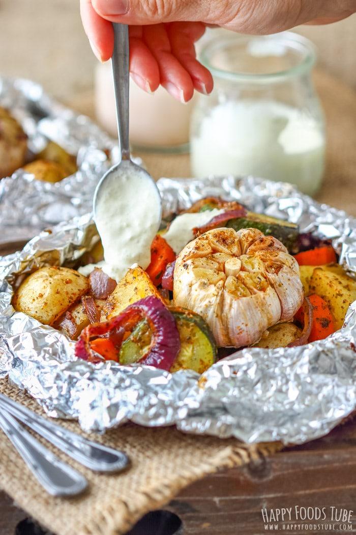 Onion Garlic Vegetable Foil Packs