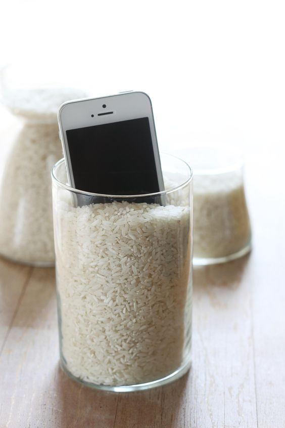 Put your drowned gadgets in a bag of rice