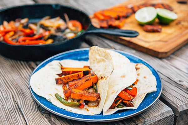 Sweet Potato Grilled Fajitas