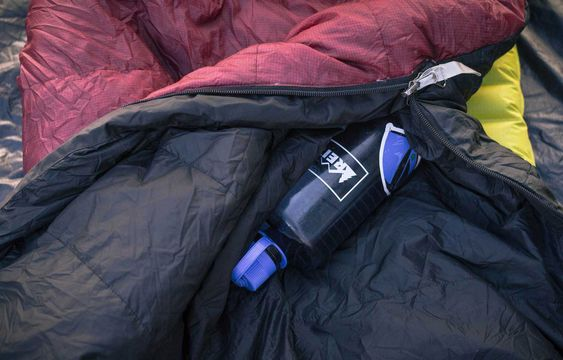 Use Nalgene to warm your sleeping bag