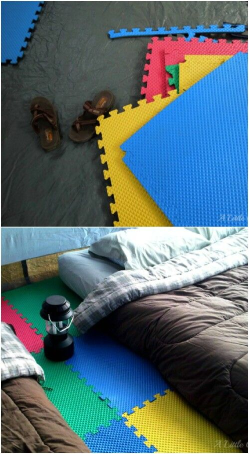Use paddings to make your tent comfy