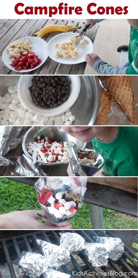 camp-fire-food-fruit-smore-cones