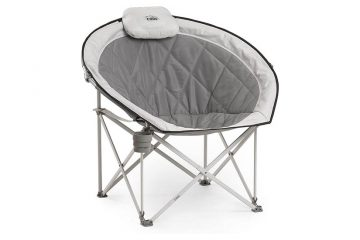 Core Equipment Folding Oversized Padded Moon Round Saucer Chair - Exquisite Comfort