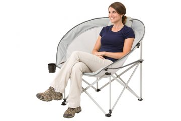 Ozark Trail Oversized Cozy Camping Chair includes Carry Bag with Carry Strap